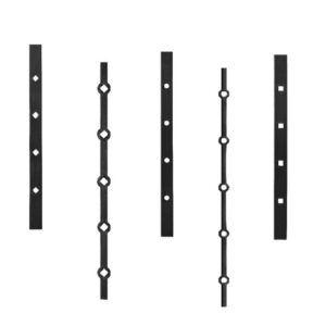 Barras preñadas, pletinas y tubos perforados